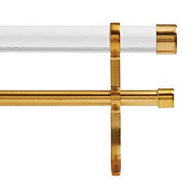 acrylic double rod hardware set