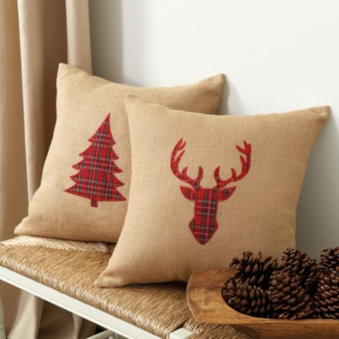 Holiday Applique Pillow Cover