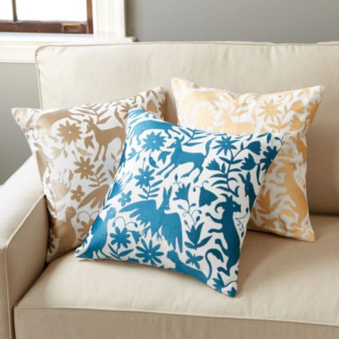 Otomi Embroidered Pillow Cover