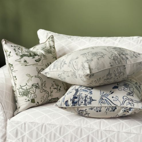 Imperial Garden Chinoiserie Pillow Cover