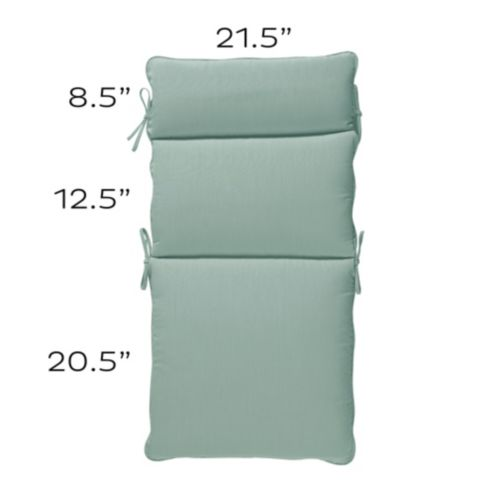 Seat and Back Cushion Set with Knife Edge