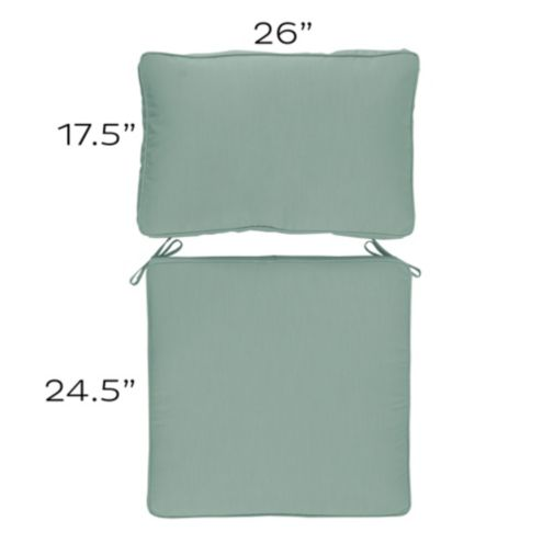 Seat and Back Cushion Set with Box Edge