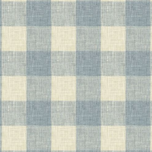 Briella Check Lagoon Fabric by the Yard