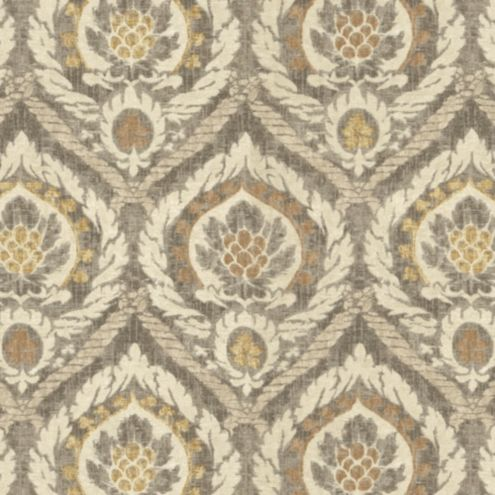 Scandicci Gray Fabric by the Yard