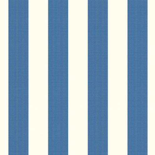 Canopy Stripe Azure/White Sunbrella® Fabric by the