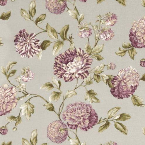 Catana Floral Lavender Easycare Fabric By The Yard