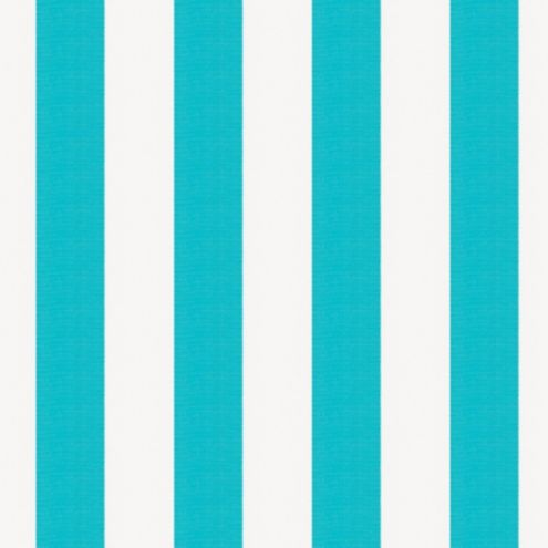 Canopy Stripe Turquoise/White Sunbrella® Fabric by the