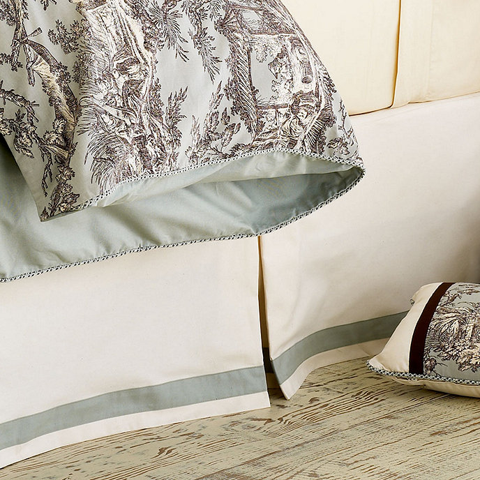 attractive Toile Bed Skirts Part - 7: Camille Toile - Bedskirt