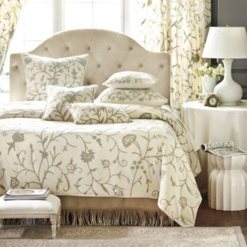 Ashton Crewel Duvet Cover Upholstery Ballard Designs