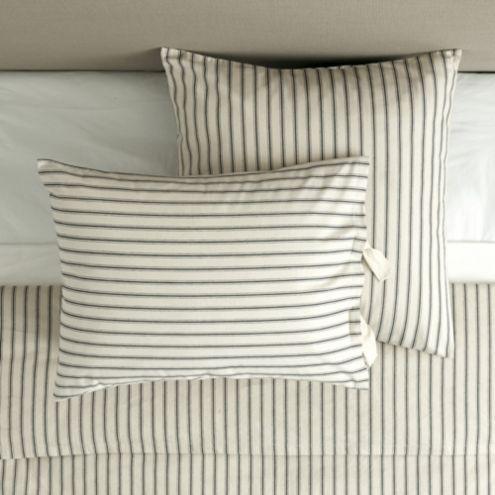 Ticking Stripe Sham Navy Ballard Designs