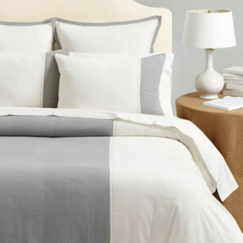 Addison Stitched Colorblock Duvet Cover