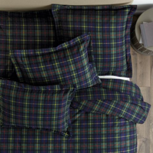 Suzanne Kasler Plaid Flannel Duvet & Sham Set