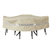 Outdoor Round Table U0026 Chairs Cover   84 Inch