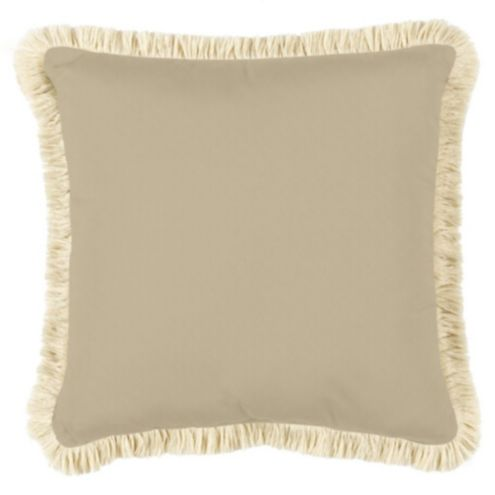 16 Inch Squared Custom Fringed Pillow - Outdoor