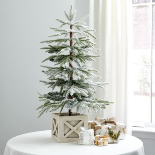 Flocked Tabletop Artificial Christmas Tree | Ballard Designs
