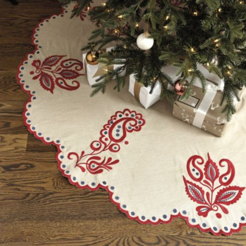 Bunny Williams Embroidered Tree Skirt