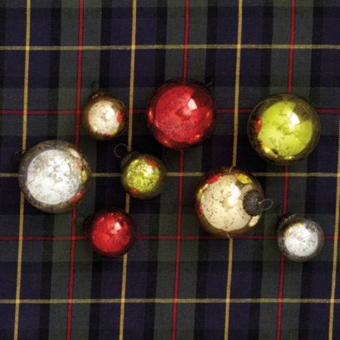 Mercury Glass Ball Ornaments
