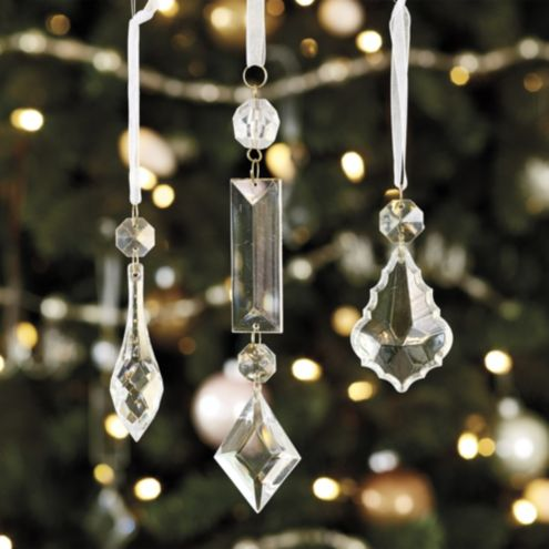 Chandelier Pendant Ornaments - Set of 12