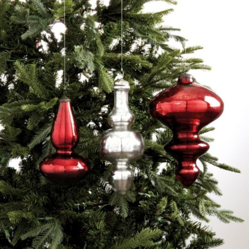Mercury Glass Finial Ornaments