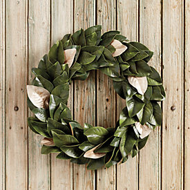 southern magnolia gold accent wreath