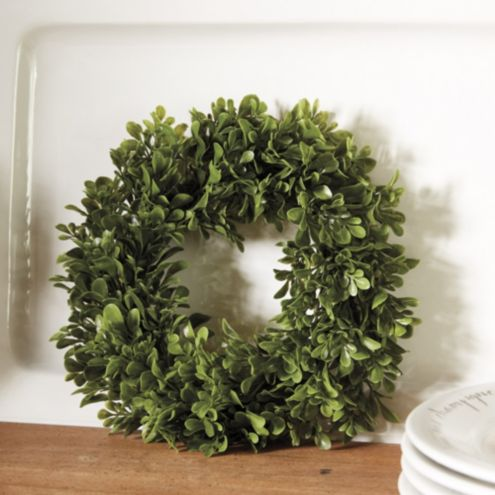 Faux Boxwood Mini Wreaths - Set of 4