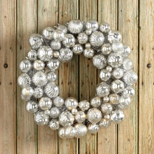 Prelit Ornament Wreath