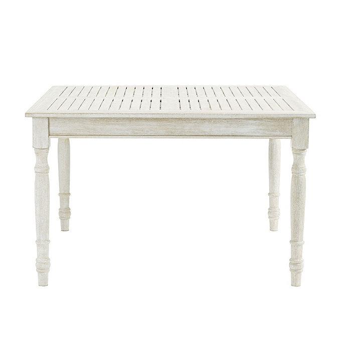 ceylon whitewash square dining table 48 inch ballard designs rh ballarddesigns com whitewashed wicker outdoor furniture white washed timber outdoor furniture