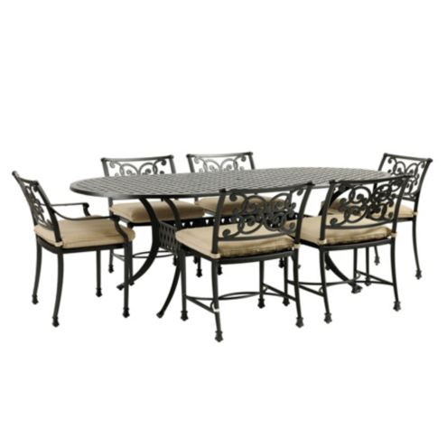 Amalfi 7-Piece Oval Dining Set - 72