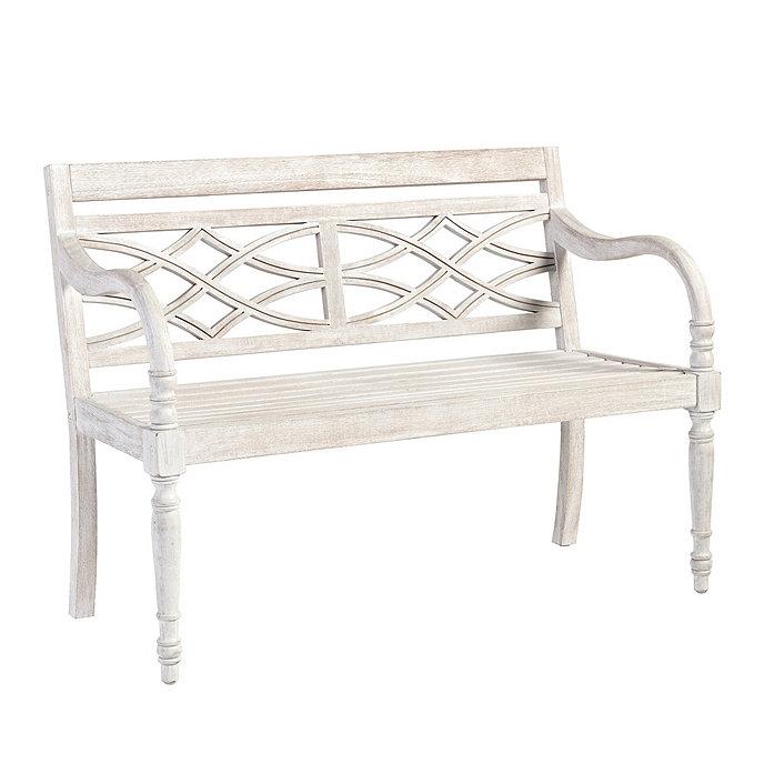 ceylon whitewash garden bench ballard designs rh ballarddesigns com whitewash outdoor table whitewashed outdoor furniture