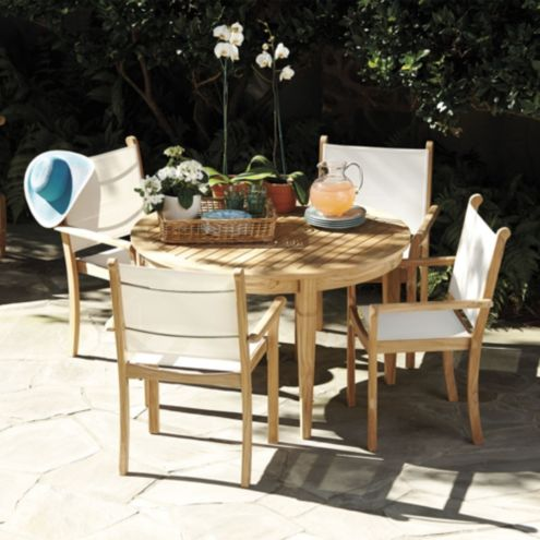 Madison Poolside 5-Piece Round Dining Set