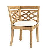 Ceylon Teak Banquette Corner Chair