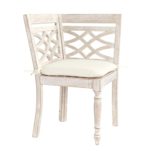 Ceylon Whitewash Banquette Corner Chair