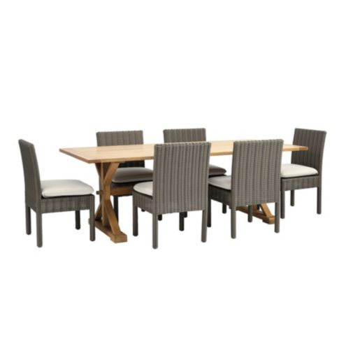 Sutton 7-Piece Dining Set with Side Chairs