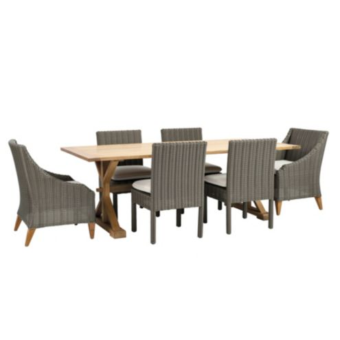 Sutton 7-Piece Dining Set with Arm and Side