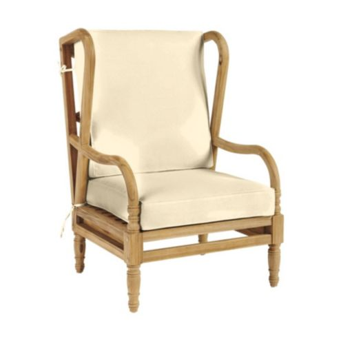 Ceylon Box Edge Wingback Chair Cushion