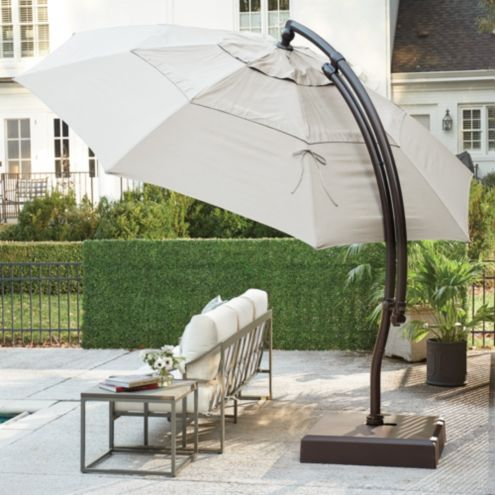 13' Octagon Cantilever Umbrella with Base