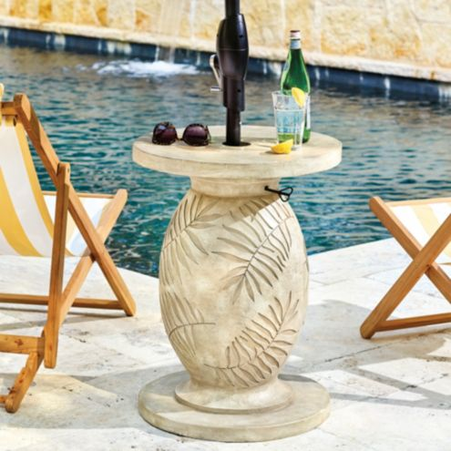 Palm Leaf Umbrella Stand