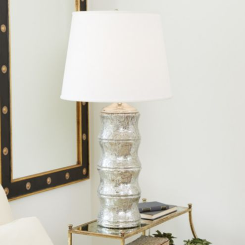 Bamboo Mercury Glass Table Lamp Ballard Designs