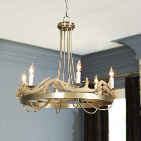 Antler 6 Light Chandelier Ballard Designs