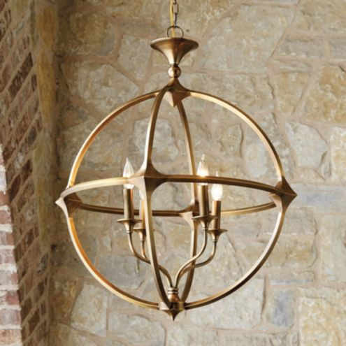 Casa Florentina Lando Orb 4-Light Chandelier