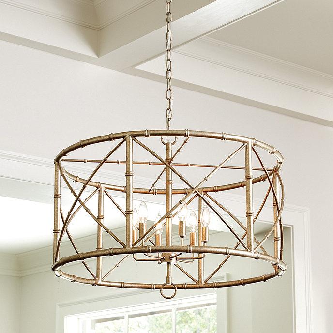 Bamboo 6 light chandelier ballard designs bamboo 6 light chandelier aloadofball Choice Image