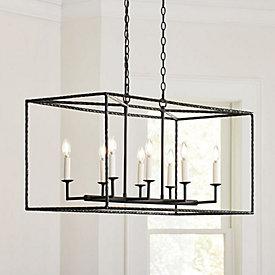 Hadley 4 light pendant chandelier ballard designs hadley 8 light pendant rectangular aloadofball Image collections