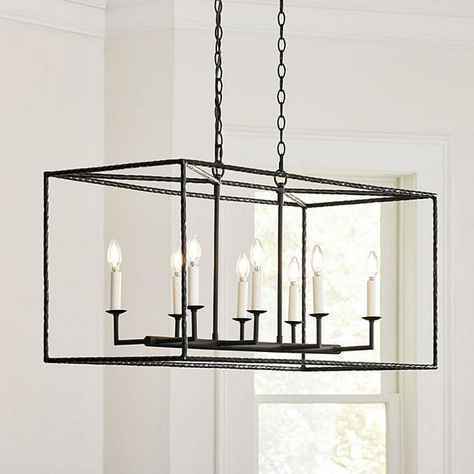 Hadley 8 light pendant rectangular ballard designs hadley 8 light pendant rectangular aloadofball Image collections