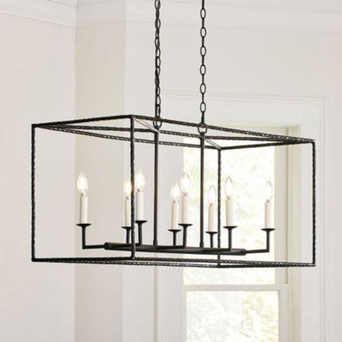 Sheffield 8 light chandelier ballard designs hadley 8 light pendant rectangular aloadofball Image collections