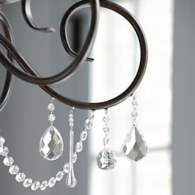 Chain sleeve lighting ballard designs magnetic crystals set of 3 aloadofball Gallery