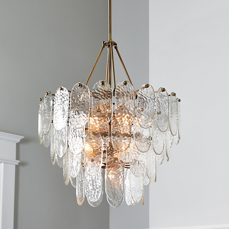 Must Have Soren Chandelier With Shades Spa Linen Tapered Ballard Designs From Accuweather Shop
