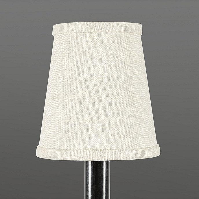 Tall Linen Chandelier Shade