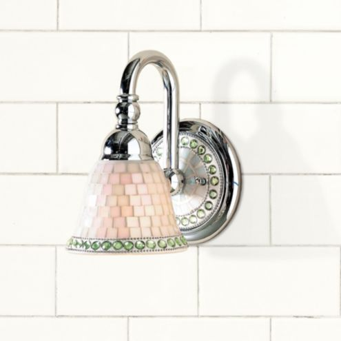 Lillian Mosaic 1 Light Vanity Sconce Ballard Designs