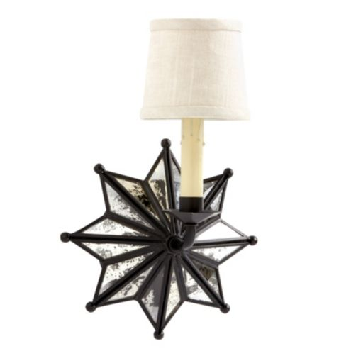 Moravian Star Sconce with Shade