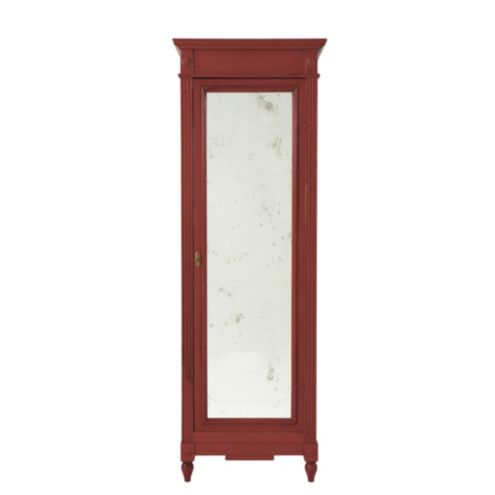 Brandisi Armoire with Antique Mirrored Doors | European-Inspired